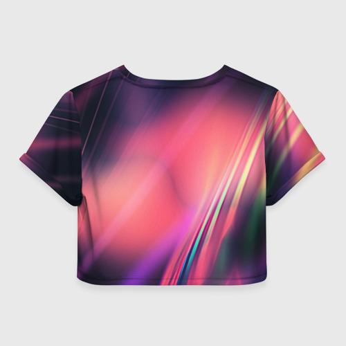 Женская футболка 3D укороченная  Фото 02, Lighting