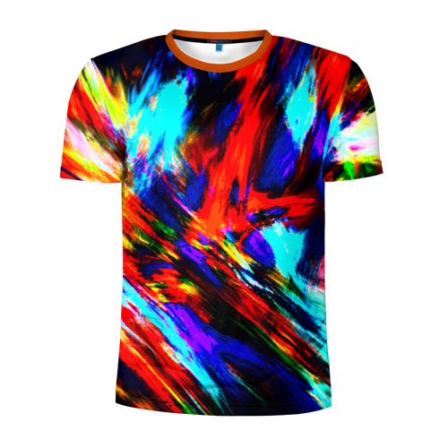 Мужская футболка 3D спортивная Акварель