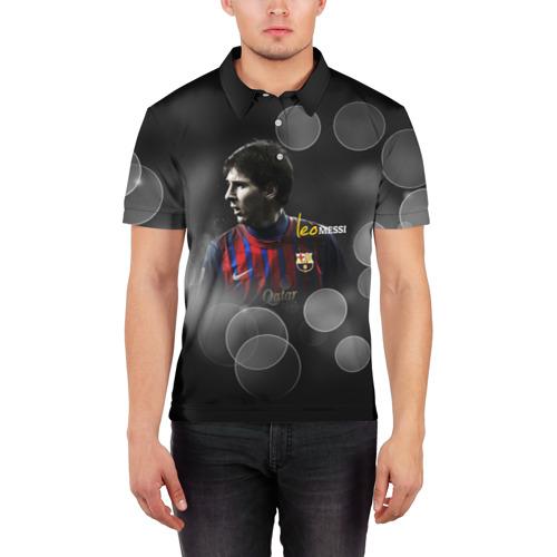 Мужская рубашка поло 3D  Фото 03, Месси (leo messi)