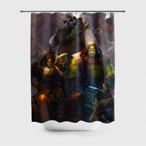 Штора 3D для ванной  Фото 01, Герои Warcraft
