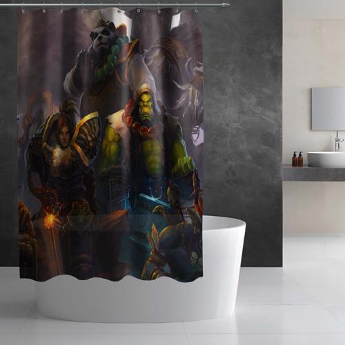 Штора 3D для ванной  Фото 03, Герои Warcraft