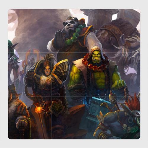 Магнитный плакат 3Х3 Герои Warcraft