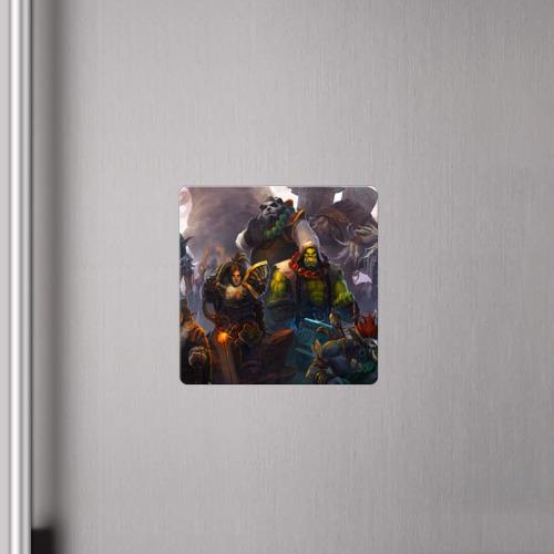 Магнит виниловый Квадрат  Фото 04, Герои Warcraft