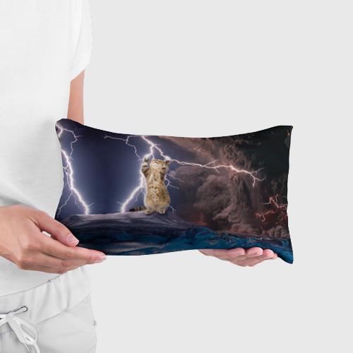 Подушка 3D антистресс Кот и молния Фото 01