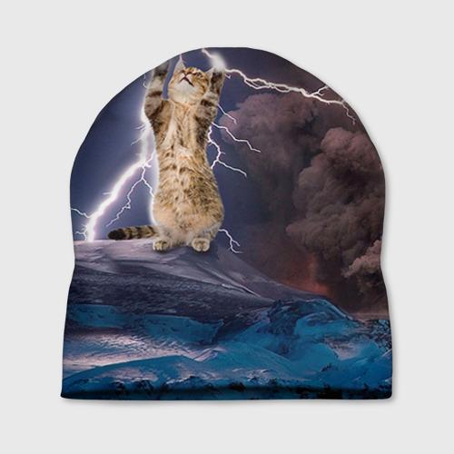 Шапка 3D Кот и молния от Всемайки