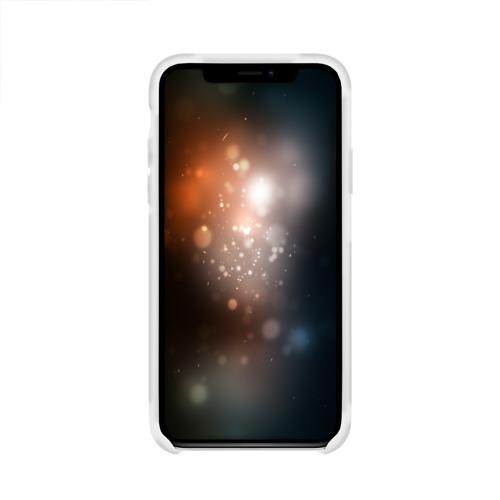 Чехол для Apple iPhone X силиконовый глянцевый  Фото 02, Кот и молния