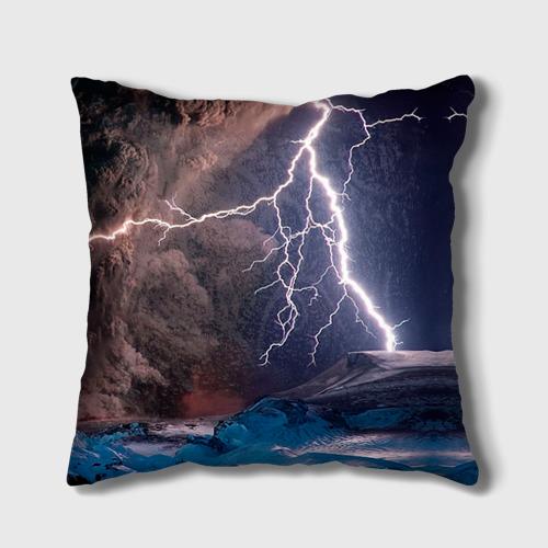 Подушка 3D Кот и молния Фото 01