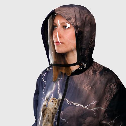 Ветровка 3D с защитным экраном Кот и молния Фото 01