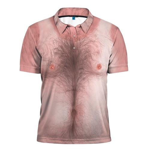 Мужская рубашка поло 3D  Фото 01, Загорелый торс