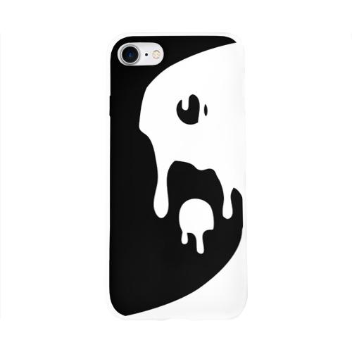 Чехол для Apple iPhone 8 силиконовый глянцевый  Фото 01, Инь Янь