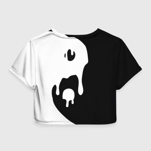 Женская футболка 3D укороченная  Фото 02, Инь Янь