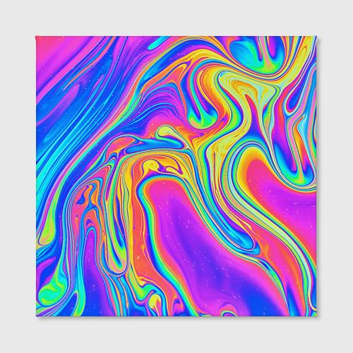 Холст квадратный  Фото 02, Цветные разводы