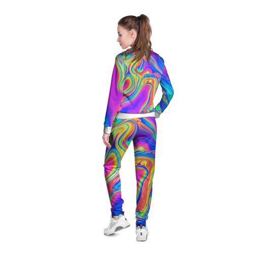 Женская олимпийка 3D  Фото 04, Цветные разводы