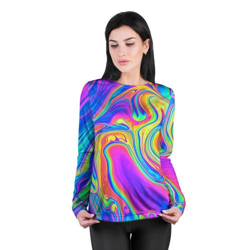 Женский лонгслив 3D для беременных  Фото 04, Цветные разводы