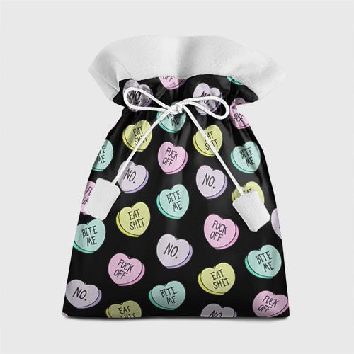 Подарочный 3D мешок Сердца с надписями