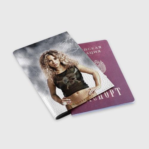 Обложка для паспорта матовая кожа  Фото 03, Шакира