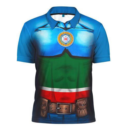 Мужская рубашка поло 3D Капитан Чечня