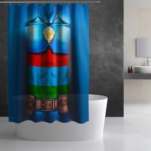 Штора 3D для ванной  Фото 03, Капитан Дагестан