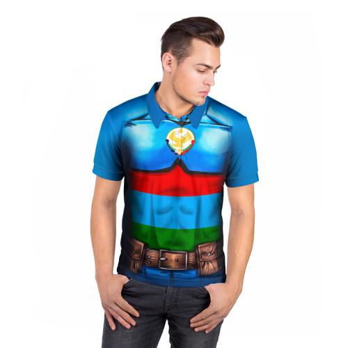 Мужская рубашка поло 3D  Фото 05, Капитан Дагестан