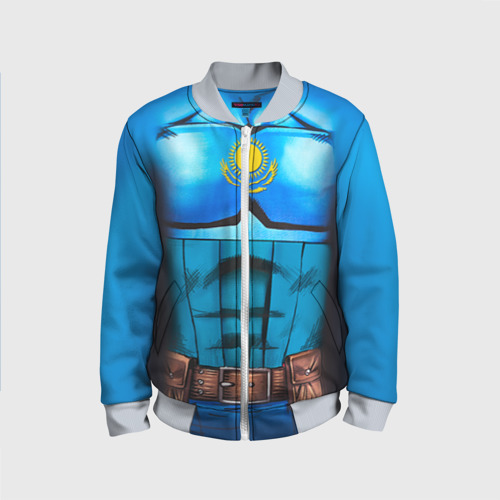 Детский бомбер 3D Капитан Казахстан