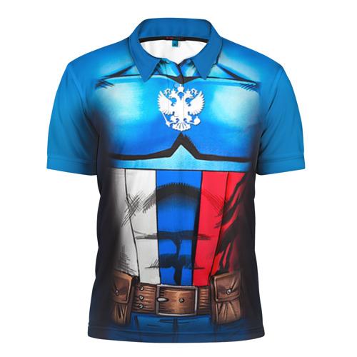 Мужская рубашка поло 3D  Фото 01, Капитан Россия