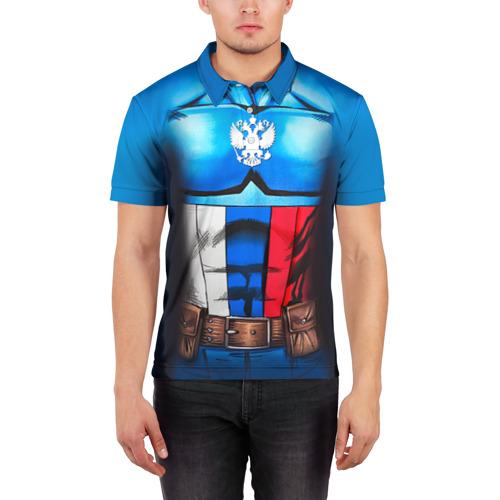 Мужская рубашка поло 3D  Фото 03, Капитан Россия