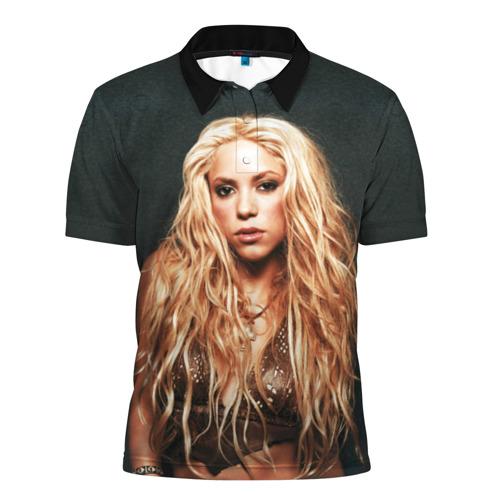 Мужская рубашка поло 3D  Фото 01, Шакира