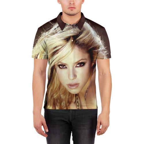 Мужская рубашка поло 3D  Фото 03, Шакира