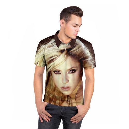 Мужская рубашка поло 3D  Фото 05, Шакира