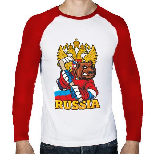 Мужской лонгслив реглан  Фото 01, Только Русский Хоккей!