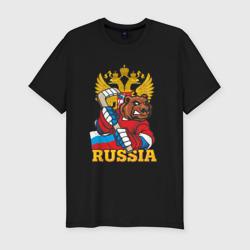 Мужская футболка премиумТолько Русский Хоккей!
