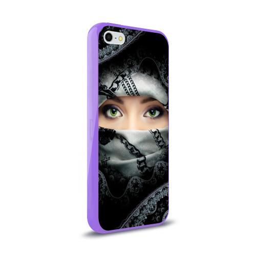 Чехол для Apple iPhone 5/5S силиконовый глянцевый Восточная девушка Фото 01