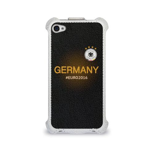 Чехол для Apple iPhone 4/4S flip  Фото 01, Сборная Германии 2016