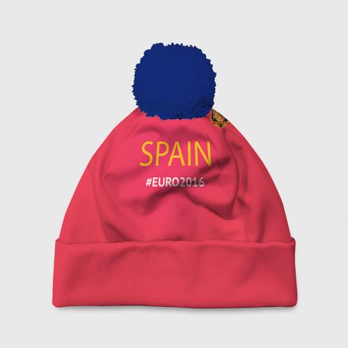 Шапка 3D c помпоном Сборная Испании 2016