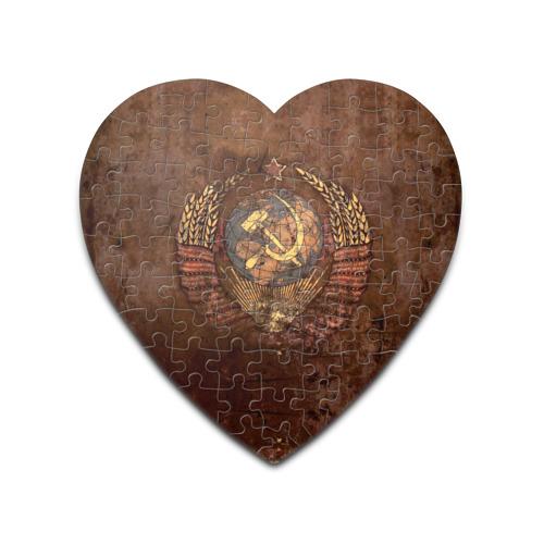 Пазл сердце 75 элементов Герб СССР от Всемайки