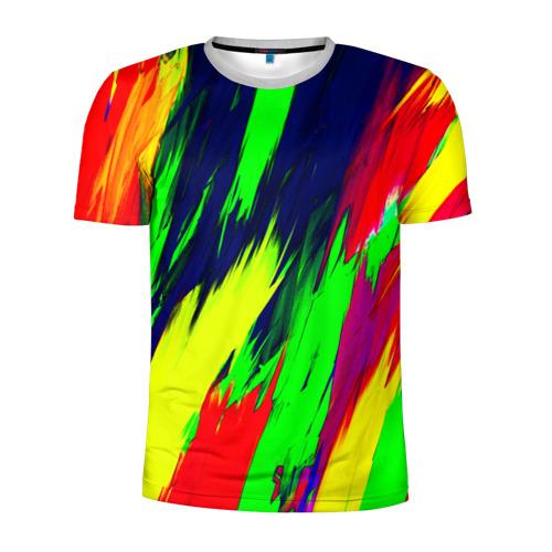 Мужская футболка 3D спортивная Краска