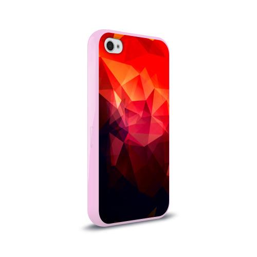 Чехол для Apple iPhone 4/4S силиконовый глянцевый Абстракция Фото 01