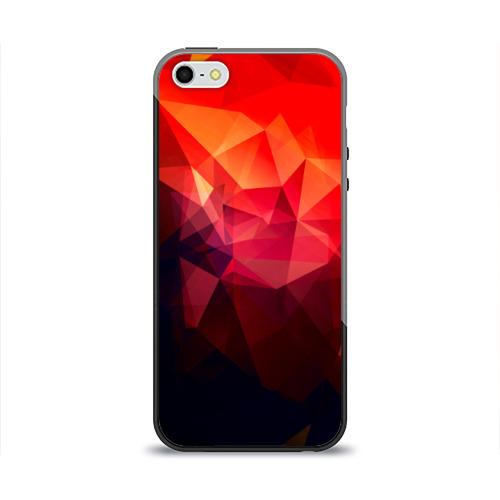 Чехол для Apple iPhone 5/5S силиконовый глянцевый Абстракция Фото 01