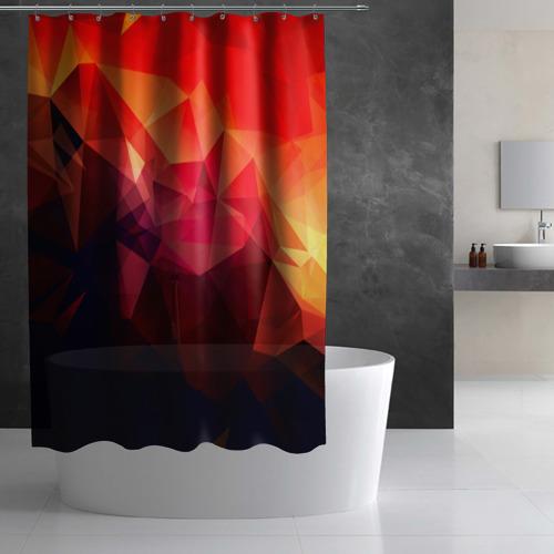 Штора 3D для ванной Абстракция Фото 01