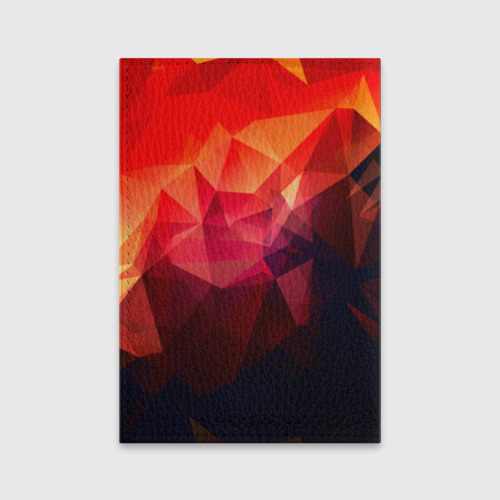 Обложка для паспорта матовая кожа Абстракция Фото 01
