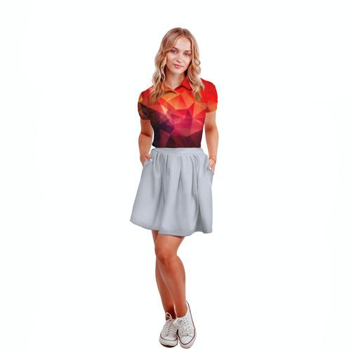 Женская рубашка поло 3D Абстракция Фото 01