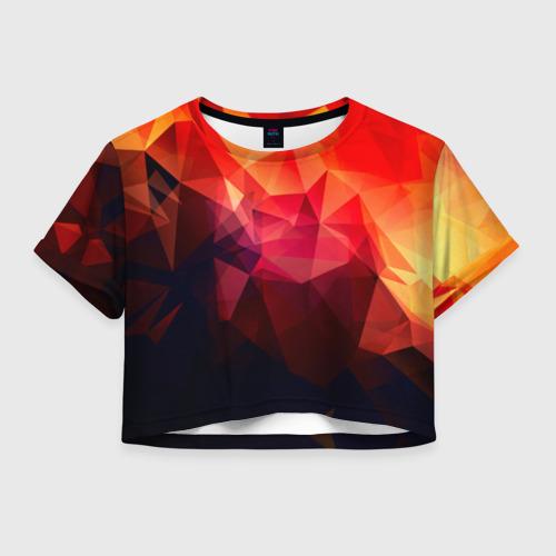 Женская футболка Crop-top 3D Абстракция Фото 01