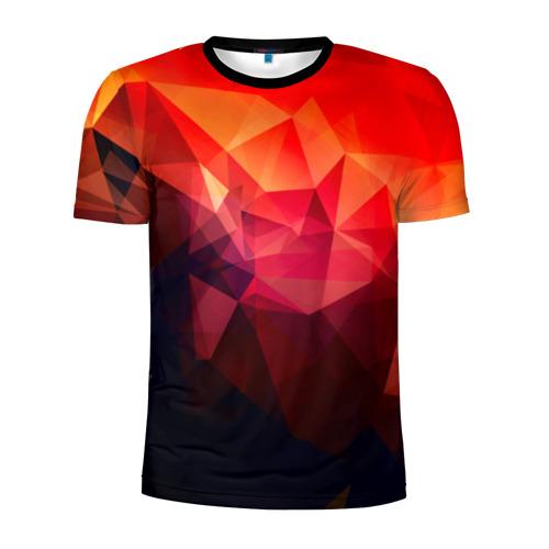 Мужская футболка 3D спортивная Абстракция