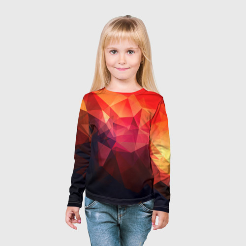 Детский лонгслив 3D Абстракция Фото 01