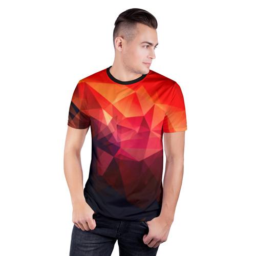 Мужская футболка 3D спортивная Абстракция Фото 01