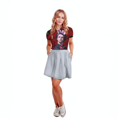 Женская рубашка поло 3D Грин Дей Фото 01
