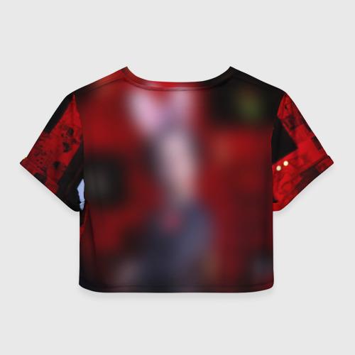 Женская футболка 3D укороченная  Фото 02, Грин Дей