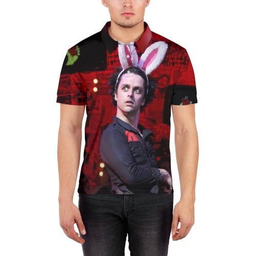 Мужская рубашка поло 3D Грин Дей Фото 01