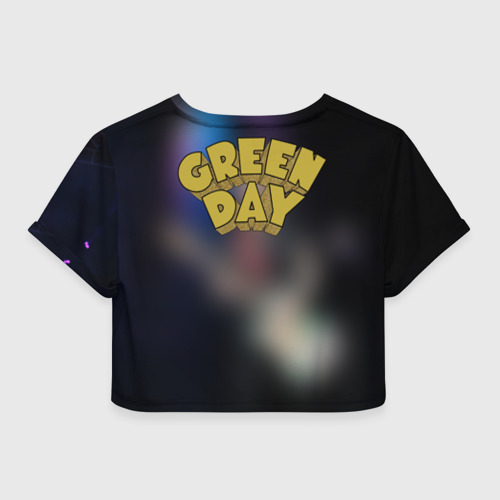 Женская футболка 3D укороченная  Фото 02, Green Day