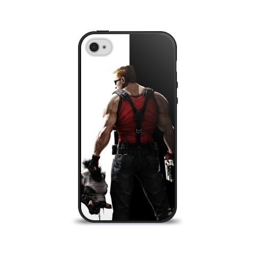 Чехол для Apple iPhone 4/4S силиконовый глянцевый Duke Nukem от Всемайки